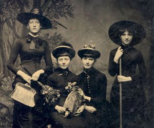 witch, vintage, and black image