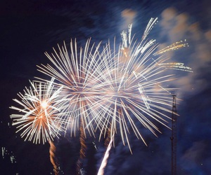 colorful, fireworks, and night image