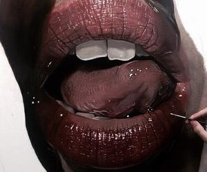 theme, lips, and art image