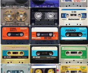 music, tape, and 90s image