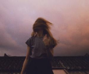 girl, grunge, and sky image