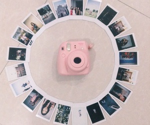 pink and instax mini 8 image