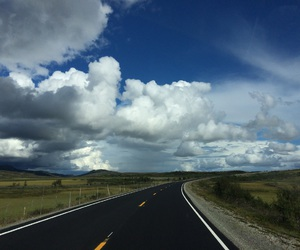 clouds, landscape, and road image