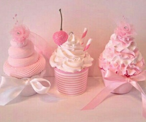 pink and food image