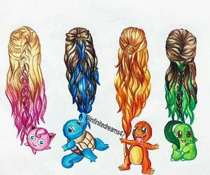 hair and pokemon image
