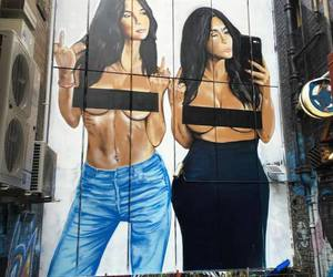kim kardashian, kim, and kendall jenner image
