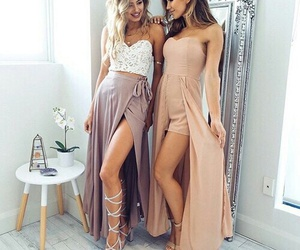 beauty, dresses, and girls image