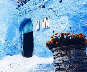 background, blue, and door image