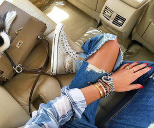 accessories, denim, and details image