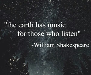 quote, music, and william shakespeare image