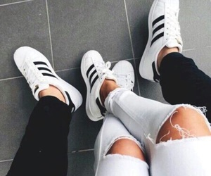 adidas, couple, and shoes image