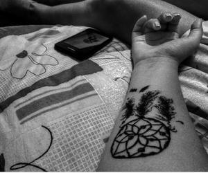 and, black, and tatoo image