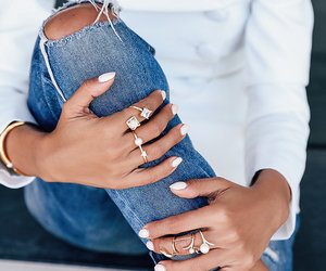 fashion, jeans, and rings image