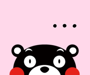 pink, kumamon, and wallpaper image