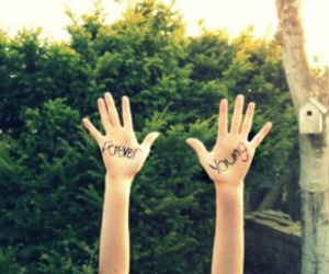 Forever Young, hands, and photography image