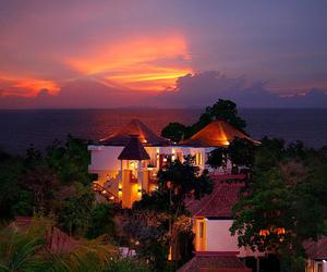 house, luxury, and sunset image