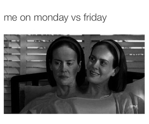 ahs, friday, and funny image