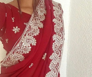 red, beautiful, and india image