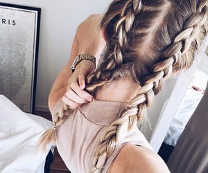 beautiful hair, curled hair, and hairstyles image