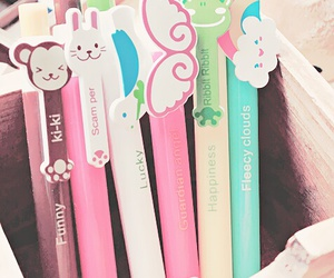 pen, cute, and blue image