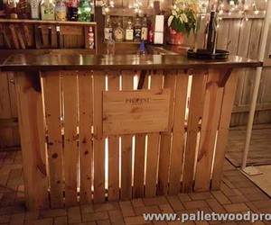 pallet bar, pallet outdoor bar, and pallet patio bar image