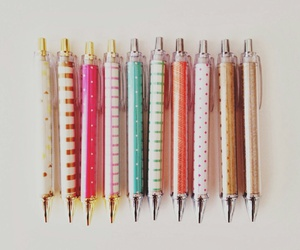 pen, school, and stationery image