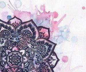 art, mandala, and watercolor image