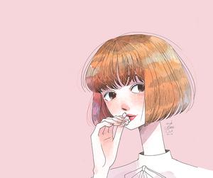 cute, art, and girl image