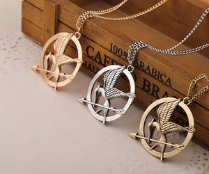 mockingjay, necklace, and mocking bird image