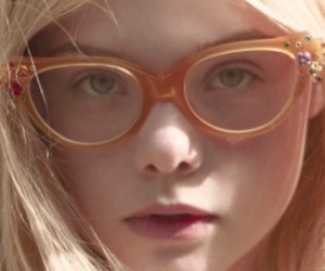 Elle Fanning, blonde, and glasses image