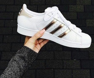 adidas, shoes, and gold image