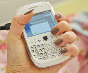 blackberry, nails, and tumblr image