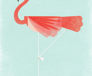 flamingo, pink, and cute image
