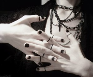 black, goth, and pale image