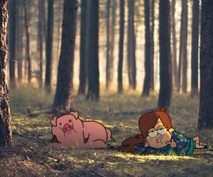 gravity falls, mabel, and forest image