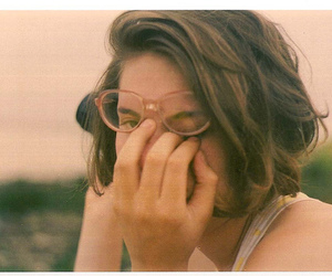 glasses, cute, and hair image