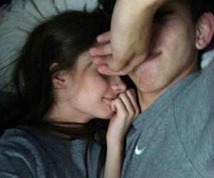 bed, love, and couples image