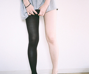 girl, legs, and black and white image