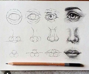 artist, drawing, and eyes image