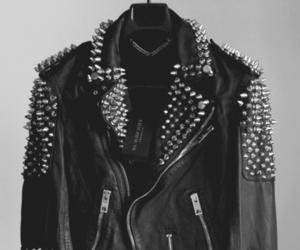 jacket, black and white, and black image