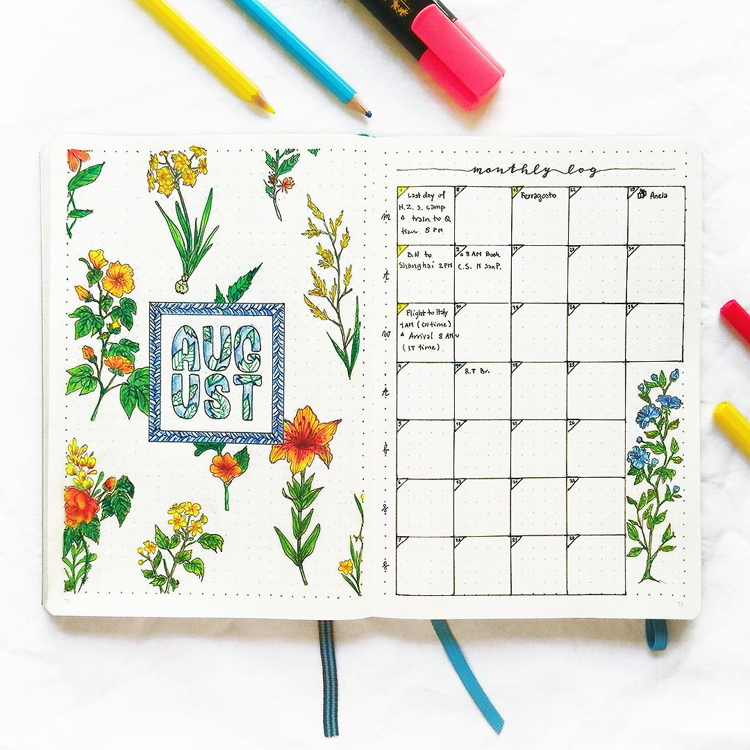 bullet journal, inspiration, and planner image