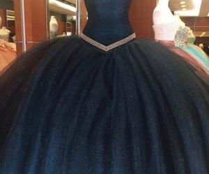 dress, dark, and blue image