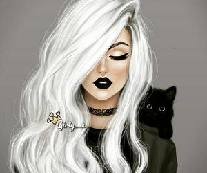 cat, black, and art image