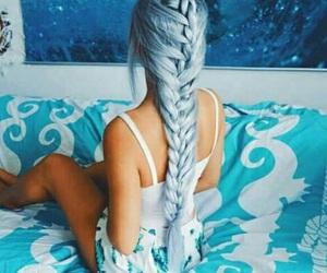 blue, hair, and braid image