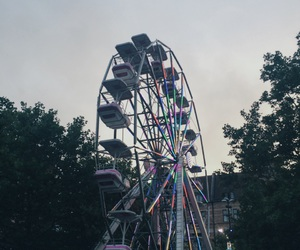 lights, cute, and rollercoaster image