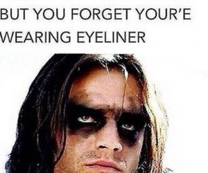 funny, eyeliner, and lol image