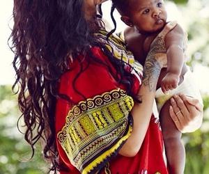 rihanna, baby, and hair image
