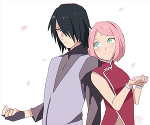 anime, sakura, and sasusaku image