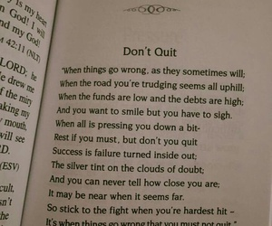 don't give up, failure, and quit image