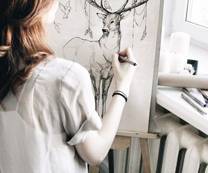 drawing, girl, and picture image